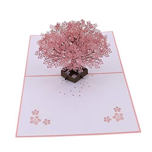 U/K HochwertigHaltbarkeitsgrußkarte Pop-up-Karte 3D-Schriftzug im japanischen Stil Geschenkkarte Geburtstagskarte Praktisch und praktisch
