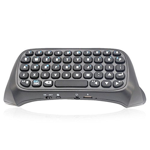 Coolmall draadloos Bluetooth-toetsenbord voor PS4 Play Station 4 controller, zwart