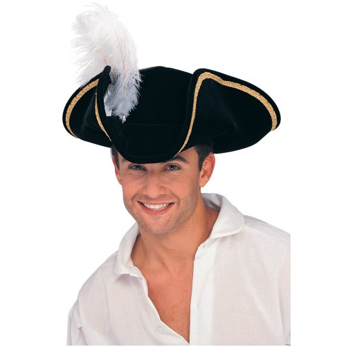 Rubie's Buccaneer Tricorn Hat, Black, One Size