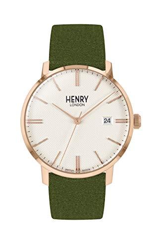 Henry London Orologio Analogico Quarzo Unisex Adulto con Cinturino in Pelle HL40-S-0362