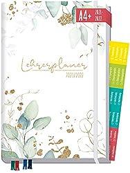 Lehrer-Planer 2021/2022 A4+ [Blattgold] Hardcover Lehrerkalender Schuljahresplaner mit Sprüchen, Stickern und mehr - smart & gut gelaunt das Schuljahr planen | nachhaltig & klimaneutral