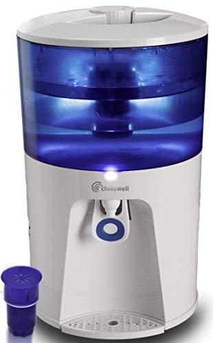 Chillswell Wasserkühler / Tischwasserspender, 8,5Liter, Rapidchill-Technologie für sofort 1,5 Liter kaltes und gefiltertes Wasser, perfekt für Familien