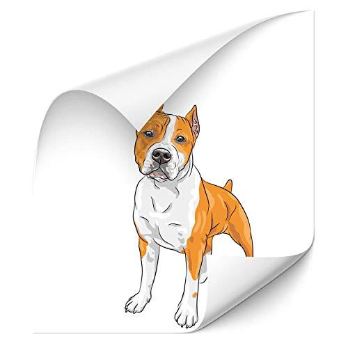 Klebe-X Pitbull Sticker Farbe Hundeaufkleber Car Tattoo Pitbull | D00661