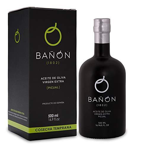 Bañon Aceite de Oliva Virgen Extra Picual Gourmet de Cosecha Temprana Jaén Andalucía Botella 500ml
