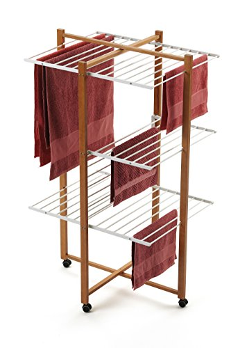 Arredamenti Italia AR_IT - 695 KARISMA tower drying rack 25 meters of useful line, Finishing cherry by Arredamenti Italia