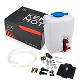 Universal Car Windshield Washer Pump Washer Fluid Reservoir Bottle Kit with Pump Jet Butto...