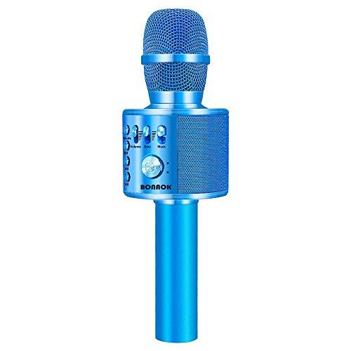 BONAOK Wireless Bluetooth Karaoke Microphone,3-in-1 Portable...