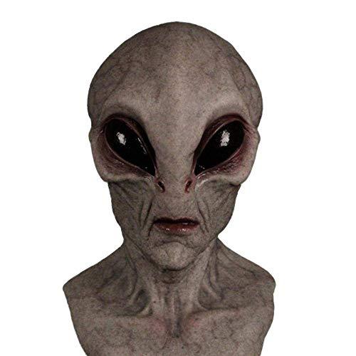 Máscara Alienígena Scary Halloween Mask Horror Latex Head Mask UFO Props Cosplay Accesorio de Disfraz para Decoraciones de Halloween