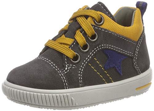 Superfit Baby Jungen Moppy Sneaker, Grau (Grau/Gelb 20), 19 EU