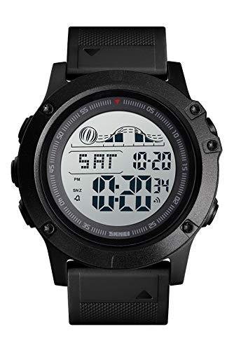 Herren Sportuhr Militär Army Countdown Doppelzeit Uhr Wecker Hintergrundbeleuchtung Chronograph Digital Armbanduhr 5 ATM Wasserdicht