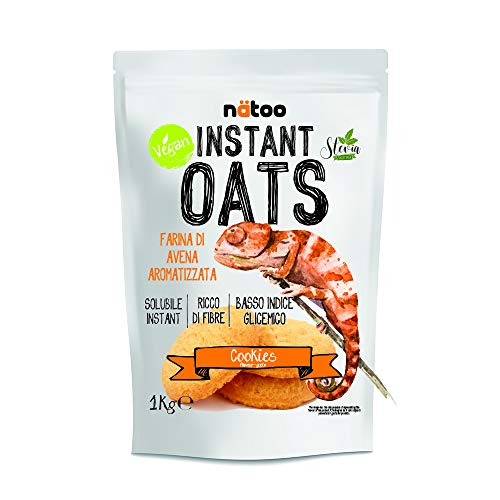 Natoo Instant Oats Farina D'avena 1 Kg Cookie (Biscotto)