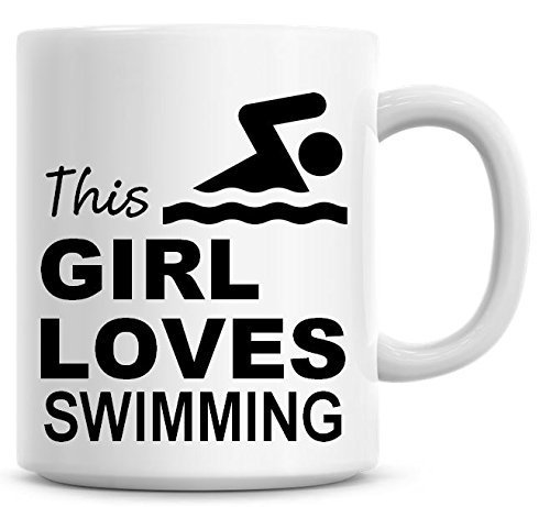 Questa bambina Loves nuoto-Tazza da caffè