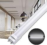 Tubo LED, Tubo Fluorescente Switch Controls 3 Color Temperatures 3000K / 4000K / 6500K, Lampada LED, per Ufficio Magazzino Garage Cucina Soggiorno (9W-60CM)