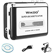 Wikoo Cassette Tape to MP3 CD converter via USB, Portable USB Cassette Tape Player