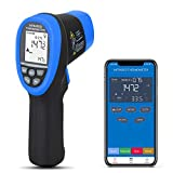 BTMETER BT-985CAPP Non Contact Infrared Thermometer 12:1 Laser Temperature Measure Gun -58~1472(-50800) with Bluetooth APP(NOT for Human Temp Test)