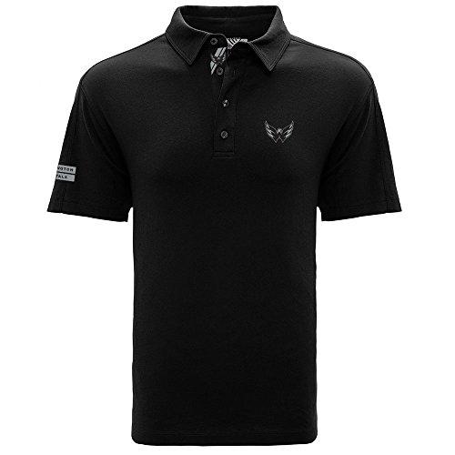 Levelwear LEY9R NHL Herren Poloshirt Washington, Capitals, Reign Dart Polo, Größe L, Schwarz
