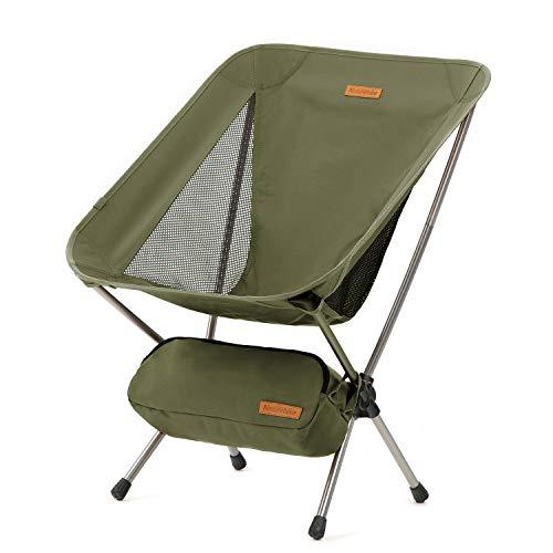 Naturehike アウトドアチェア キャンプ椅子 ローチェア コンパクト おりたたみ 超軽量 背もたれ イス アルミ合金 耐荷重120kg 組み立て簡単 ハイキング 登山 お釣り 庭 室内 ビーチ 花見 パーティー 収納袋付き