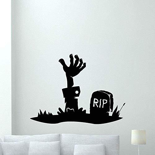 Zombie Hand Wandtattoo Walking Dead Vinyl Aufkleber Horror Poster Home Decoration Kunst Abnehmbare Wasserdichte Wandbild Schwarz 57X41Cm