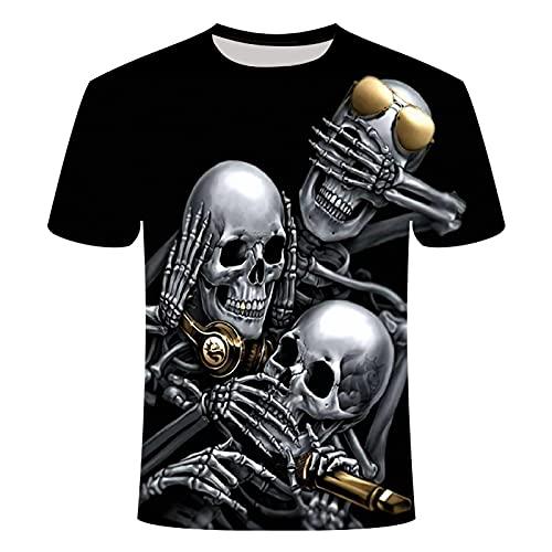 EMPERSTAR Disfraz de Esqueleto de Halloween con Calavera para nios XL