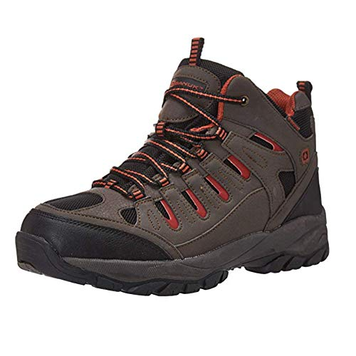 OUTBOUND Banuk Men's Guide Waterproof Hiking Boot | Lightweight & Breathable | Brown, 9