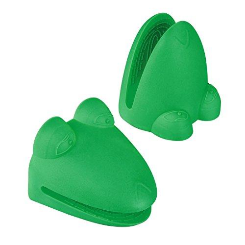 Xavax Gant manique silicone (pour sortir les plats chauds du four, style 'Grenouille', 2 pièces) Vert