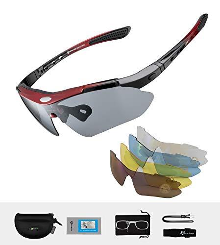 ROCKBROS Polarisierte Brillen Fahrradbrillen Sportbrillen für Outdoor-Sport Radfahren Laufen Angeln Golf