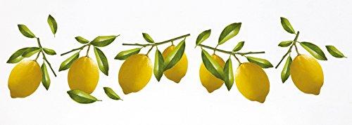 Décoration adhésive 157005 Citrons, Polyvinyle, Jaune, 21 x 0,1 x 29,6 cm