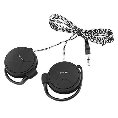 Docooler 3.5mm Wired Gaming Headset On-Ear Sports Headphones Ear-Hook Music Earphones for Smartphones Tablet Laptop Desktop PC
