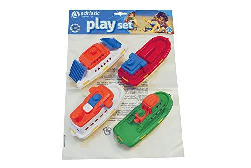 Adriatic 865 boten set verpakt in plastic zak met header speelgoed, klein