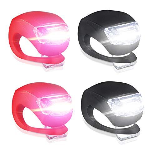 Luces Bicicleta LED, Luces Bicicleta LED Silicona Impermeabl