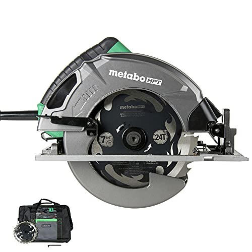 Metabo HPT 7-1/4-Inch Circular Saw Kit | 6,000 Rpm, 15-Amp Motor | Integrated Dust Blower | 24T Premium Framing/Ripping...