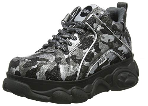 Buffalo Damen Corin Sneaker, Mehrfarbig (Camouflage Pewter 001), 38 EU