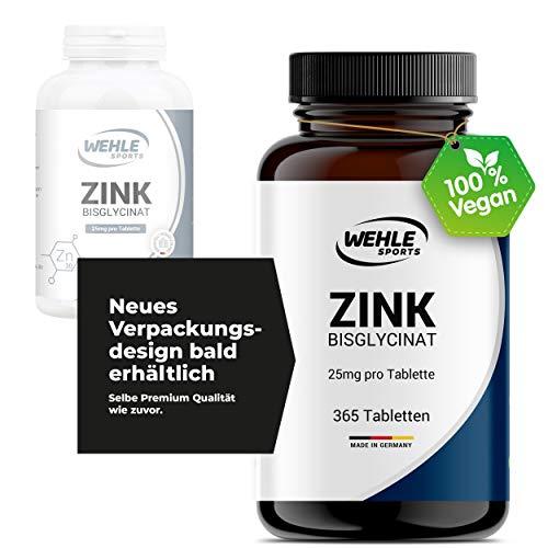 Zink 365 tabletten extra hoog gedoseerd I 25 mg per tablet I zink-bisglycinaat capsules