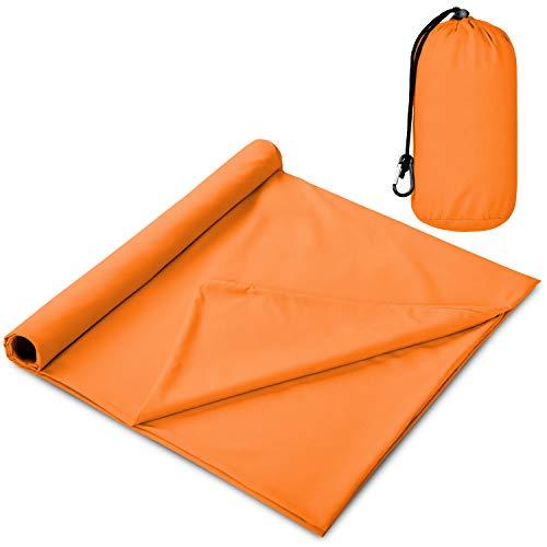 The Friendly Swede Schlafsack Inlay - Camping- und Reiseschlafsack, Ultraleicht, Kleines Packmaß, Seidig Kühles oder Warmes Schlafsack Inlett aus Microfaser mit Kompressionsbeutel