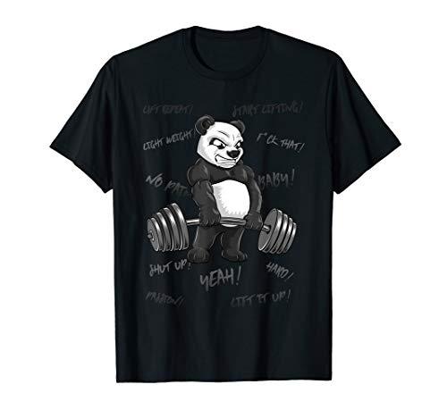 Panda Kreuzheben Workout Motivation T-Shirt Geschenk