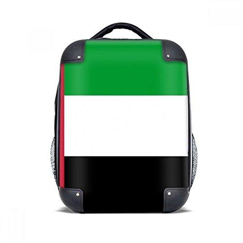 "DIYthinker Emiratos Árabes Unidos Bandera Nacional Asia País del estuche rígido de transporte para hombro Niños Mochila 15"" Regalo"