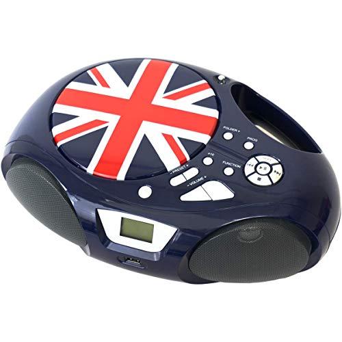 Radio CD portatile con Bluetooth BSL-32UJ | Lettore CD/MP3 | Porta USB e SD lettore MP3 | Presa AUX da 3,5 mm | Radio FM.