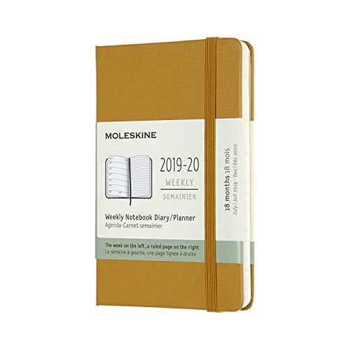モレスキン 手帳 2019年7月始まり 18ヶ月ウィークリーダイアリー ハードカバー ポケットサイズ ライブイエロー DHM2118WN2Y20