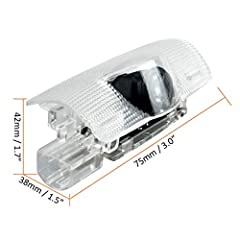 EASY INSTALL&NO DAMAGE TO CAR: The car door light projector can be easily installed in 5 minutes. NO DRILLING, NO WIRING.The super bright logo light turns on automatically when the door is open,turn off when close.