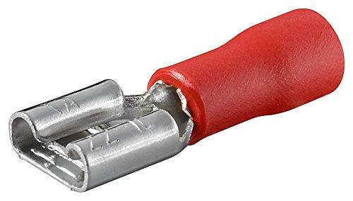 Fixpoint 17000 Flachsteckhülse, Steckmaß 2.8 mm x 0.8 mm, 10 A, Rot (100-er pack)