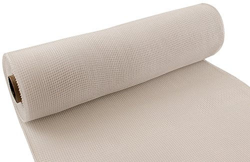 Eleganza Nr. 01Deco Mesh, Weiß, 25cm x 9,1m