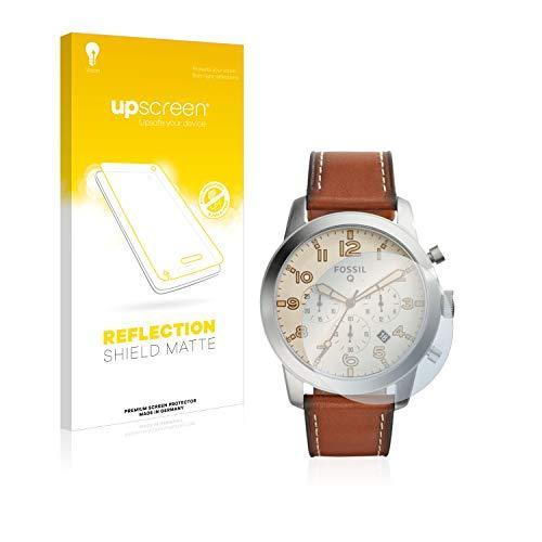 upscreen Entspiegelungs-Schutzfolie kompatibel mit Fossil Q Pilot 54 – Anti-Reflex Bildschirmschutz-Folie Matt