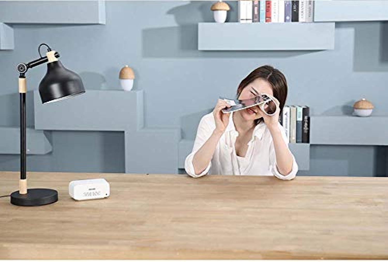 HEFEI Smart Tisch Lampe Tabelle Lampe Beleuchtung Augenschutz Lesewelter Sprachkonsole Licht,schwarz