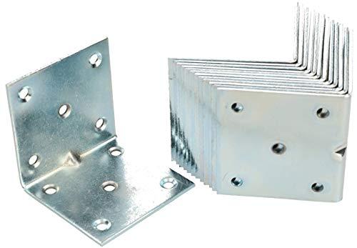 KOTARBAU Winkelverbinder 60 x 60 x 60 mm Sicke Stahl Bauwinkel Montagelöcher Möbelwinkel Verzinkt Schwerlast Holzverbinder Montagewinkel Stuhlwinkel (25)