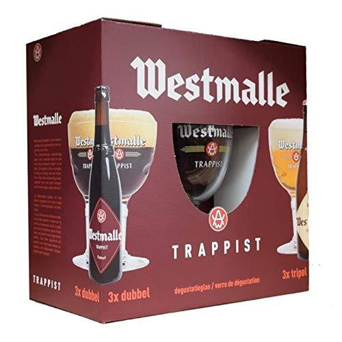 Coffret westmalle 6 bieres + 1 verre