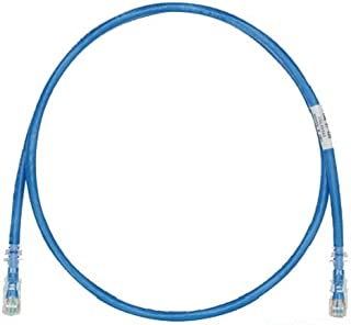 Panduit UTPSP10BUY Category-6 8-Conductor Strain Relief Clear Boot Patch Cord, 10-Feet, Blue