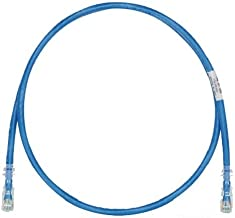 Best Panduit UTPSP10BUY Category-6 8-Conductor Strain Relief Clear Boot Patch Cord, 10-Feet, Blue Review