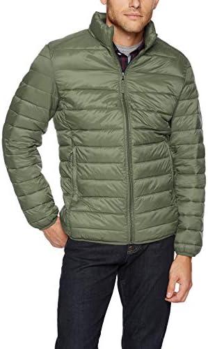 Amazon Essentials Men s Lightweight Water Resistant Packable Puffer Jacket Olive Heather Medium product image