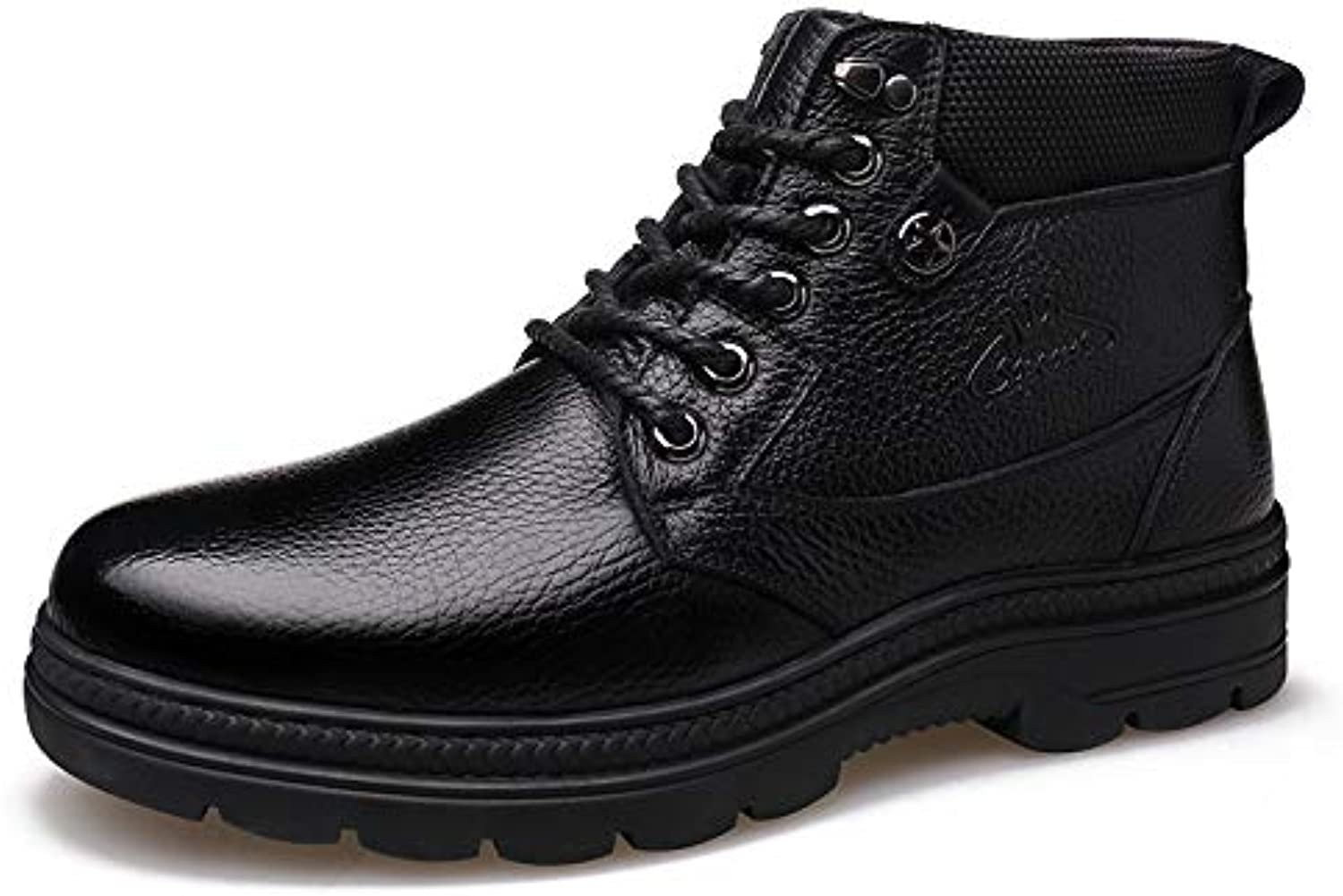 LOVDRAM Boots Men's Autumn And Winter New Martin Boots Casual Warm shoes Thick Men'S Cotton shoes High shoes