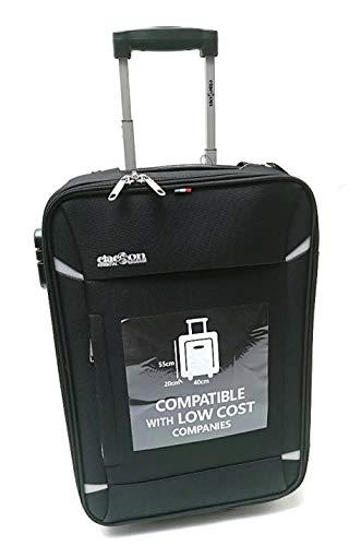 Handbagage Trolley koffer Geschikt voor goedkoop Ryanair Easyjet vluchten (zwart)